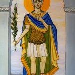 Icône contemporaine et originale de Saint Ferréol