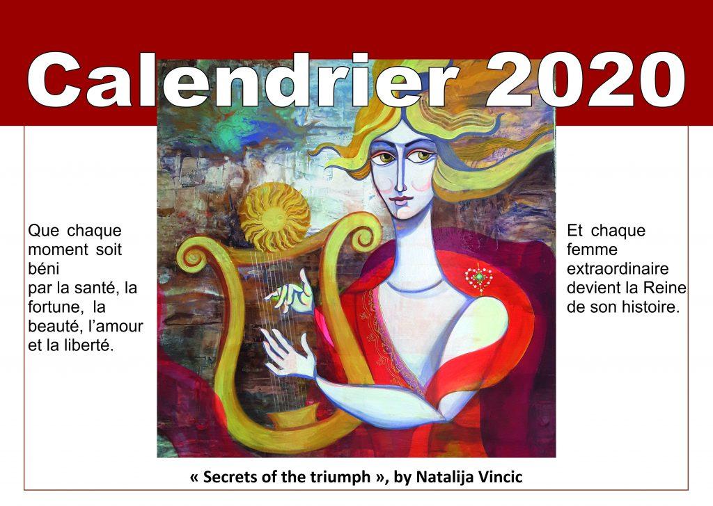 Calendrier 2020 de Vincic Art